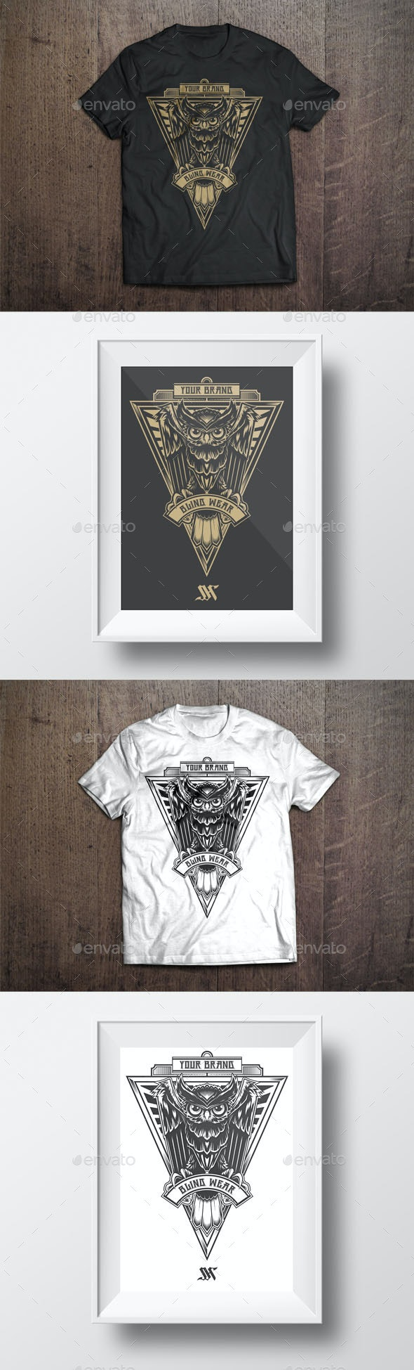 T-Shirt Illustration - Owl Theme - Designs T-Shirts