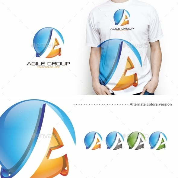 Agile Group / A Letter - Logo Template