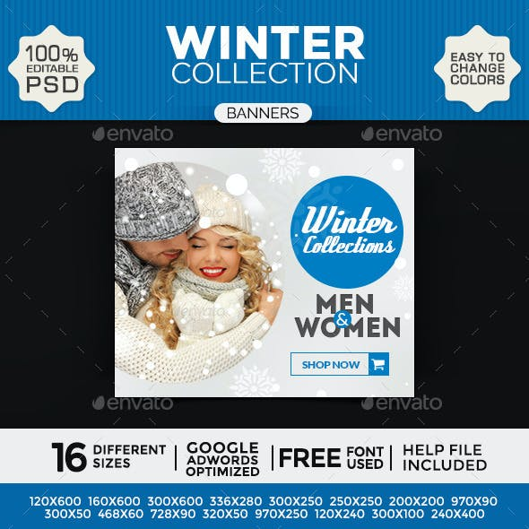 Winter Collection Banners