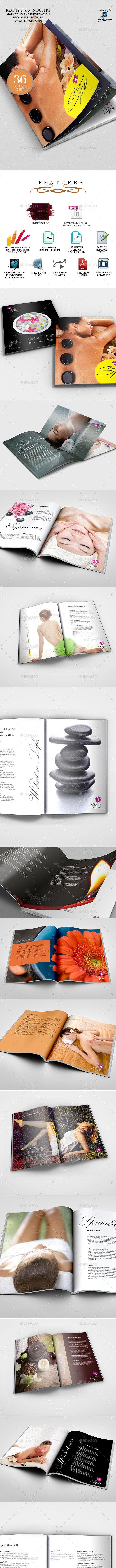 Beauty Salon and Spa Service Brochure - Informational Brochures