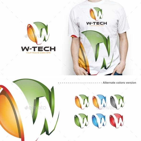 W-tech / W Letter - Logo Template