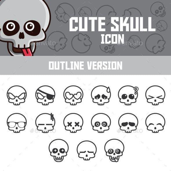 Funny Skull Emoticon