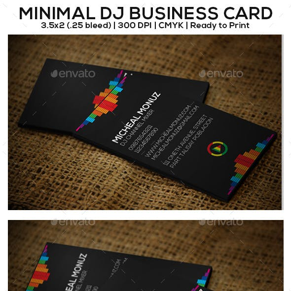 Minimal DJ Business Card