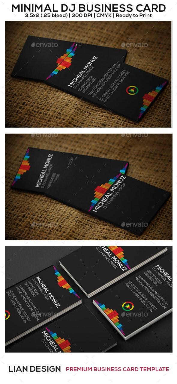 Minimal DJ Business Card - Creative Business Cards