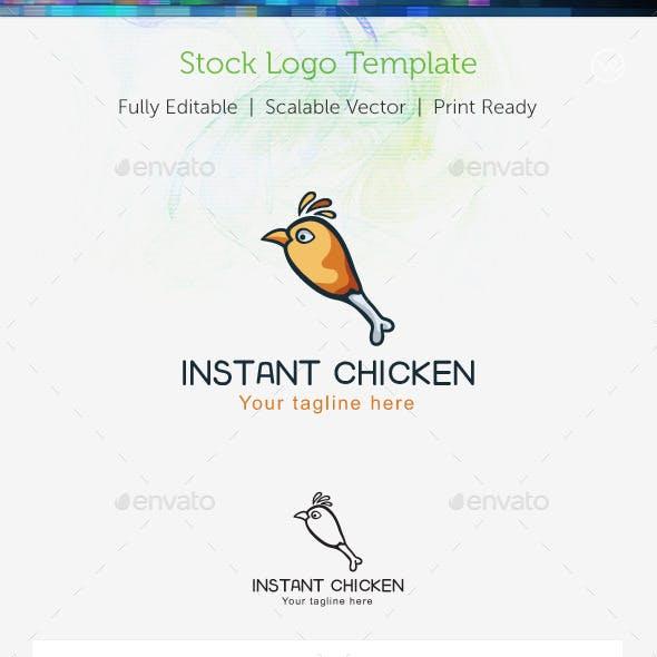 Instant Chiken Stock Logo Template