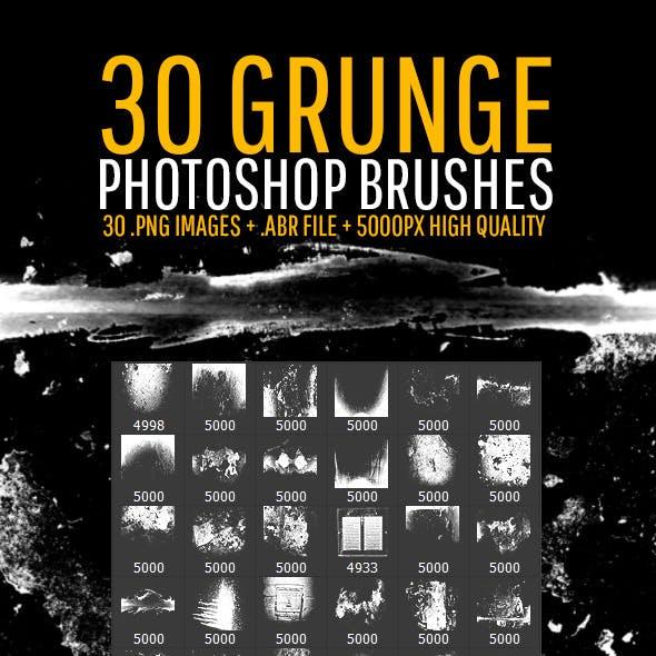 30 Grunge Photoshop Brushes
