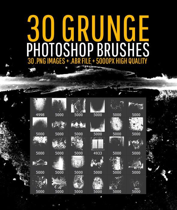 30 Grunge Photoshop Brushes - Grunge Brushes