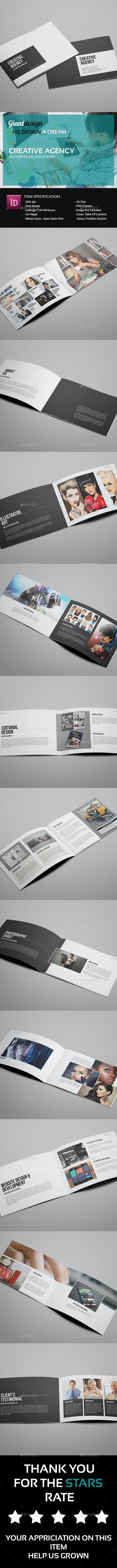 Creative Agency - A5 Portfolio Brochure - Portfolio Brochures