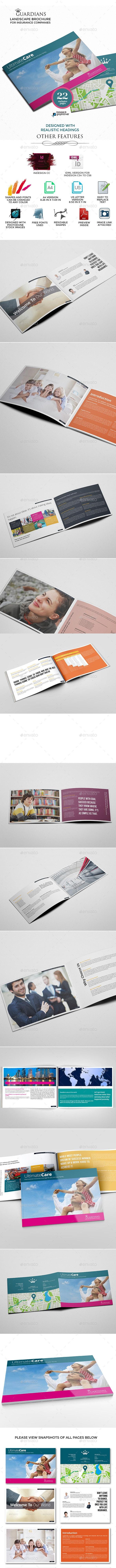 Landscape Brochure for Insurance Companies - Corporate Brochures