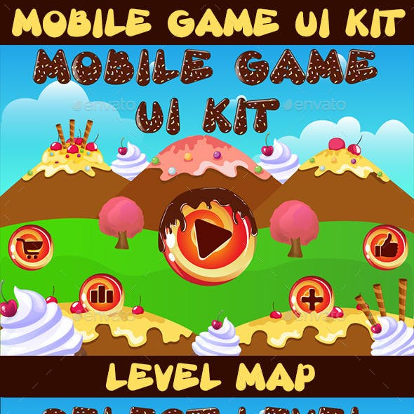 Mobile Candy Game UI Kit 07