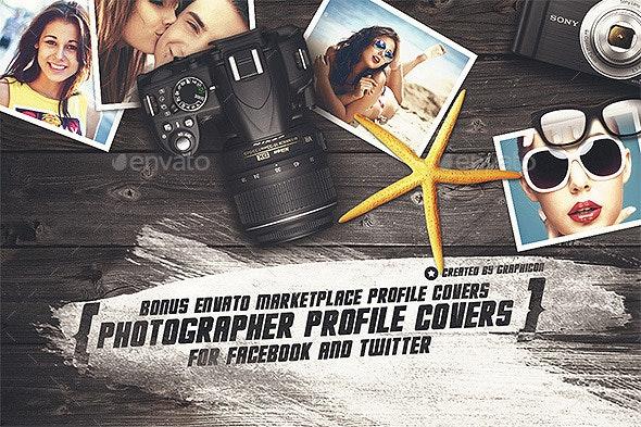 Photographer Social Profile Covers - Social Media Web Elements