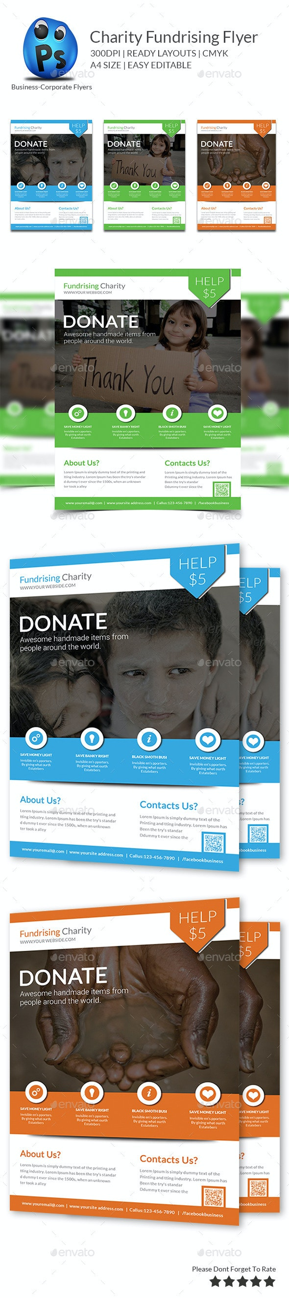 Charity Fundrising Flyer Print Templates - Flyers Print Templates