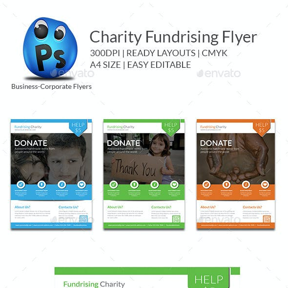 Charity Fundrising Flyer Print Templates