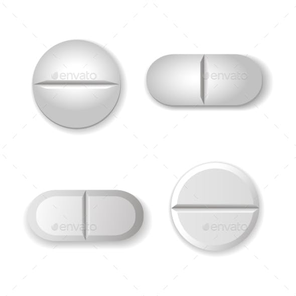 Tablets and Pills Set