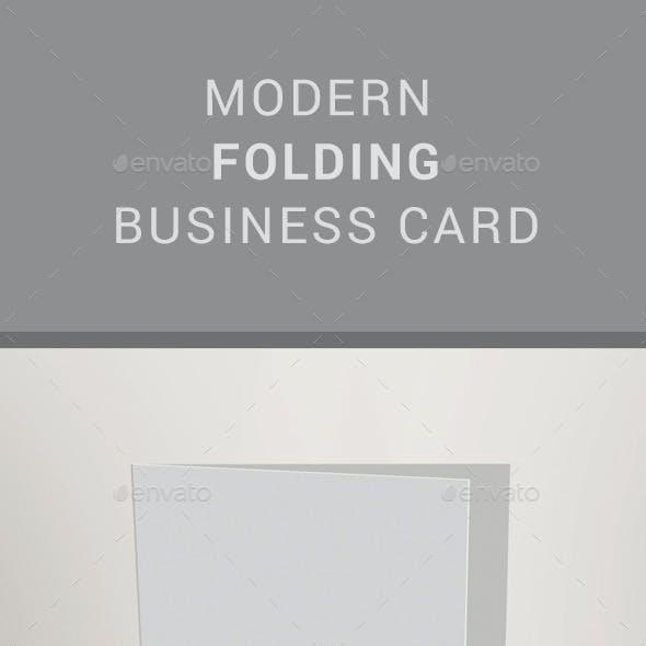 Modern Folding Busiess Card