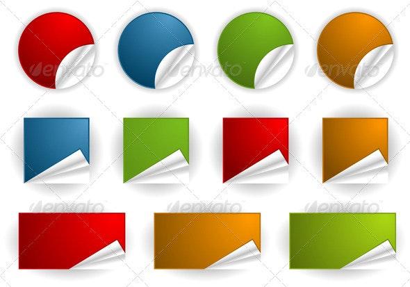 Collect Sticker - Web Elements Vectors