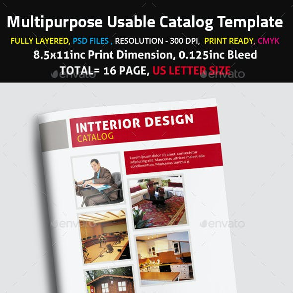 Multipurpose Usable Catalog Template