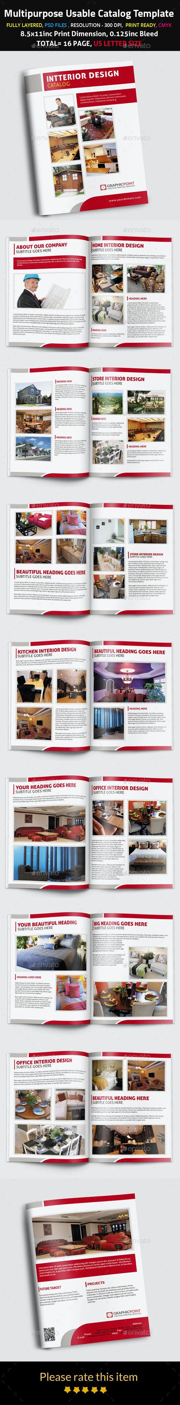 Multipurpose Usable Catalog Template - Brochures Print Templates