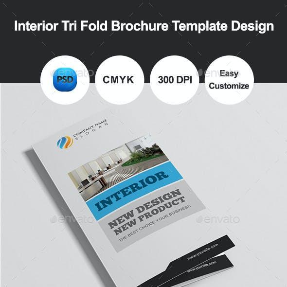 Interior Tri Fold Brochure Template Design