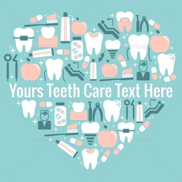 Dental Care Heart Symbol