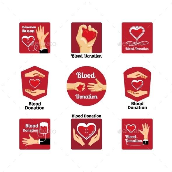 Blood Donation Emblems