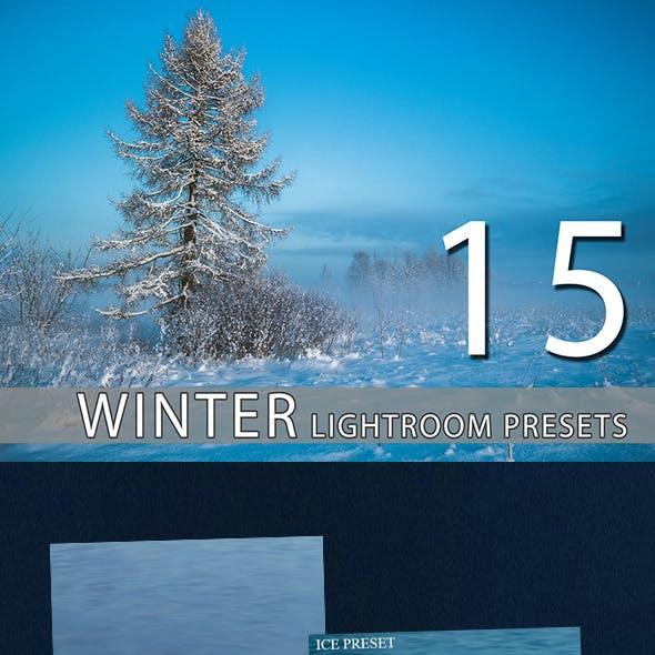 15 Winter Lightroom Premium Presets