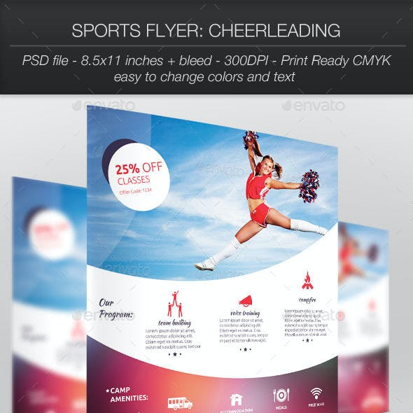 Sports Flyer: Cheerleading