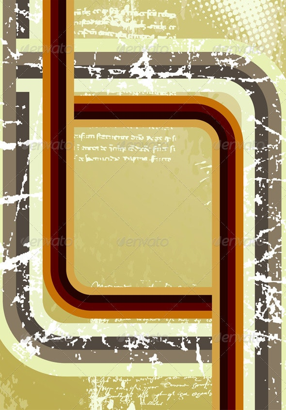 Retro Background - Borders Decorative