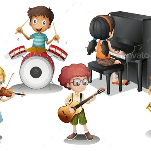 Group of Talented Kids