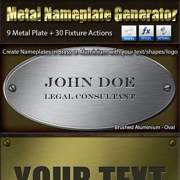 Metal Nameplate Generator