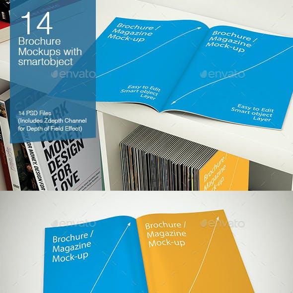 Brochure Mockups - 14 poses