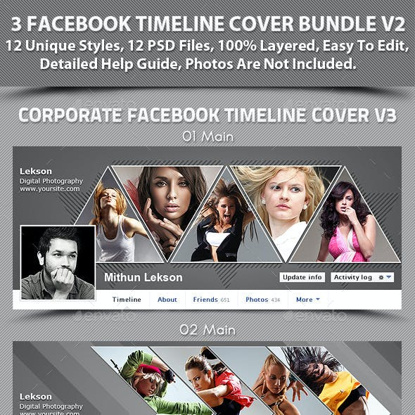 3 Facebook Timeline Cover Bundle V2