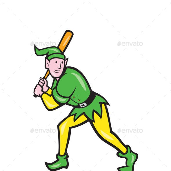 Elf Baseball Player Batting
