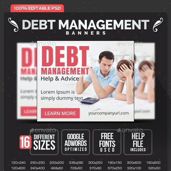 Debt & Loan service Banners