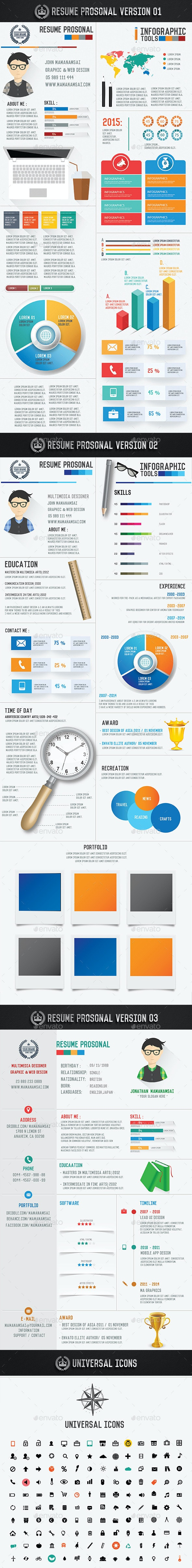 Resume Infographic Design[Update icons] - Infographics