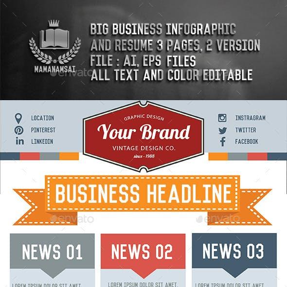 Big Info graphic & Business resume design