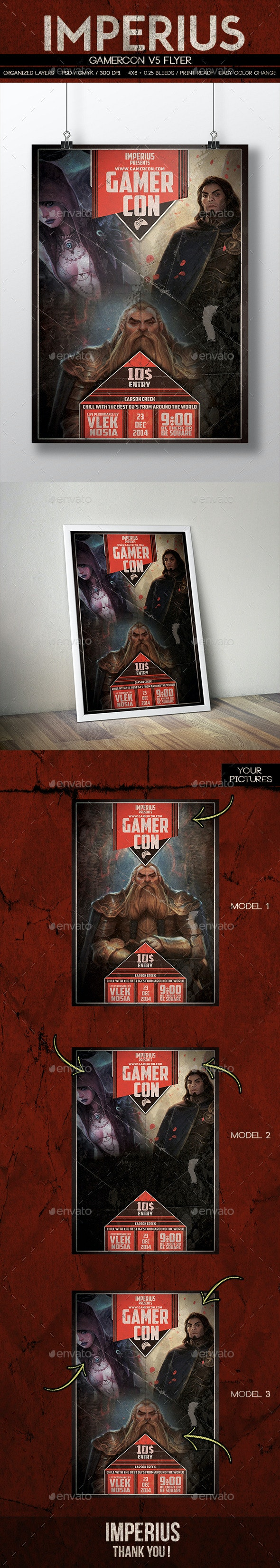 GamerCon V5 - Events Flyers