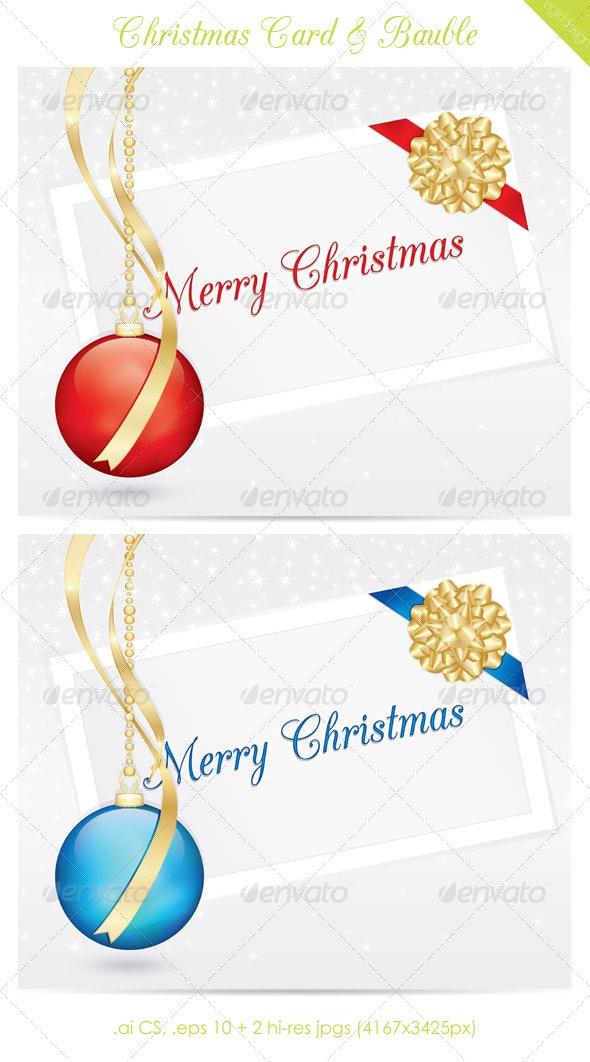 Christmas Card & Bauble - Christmas Seasons/Holidays