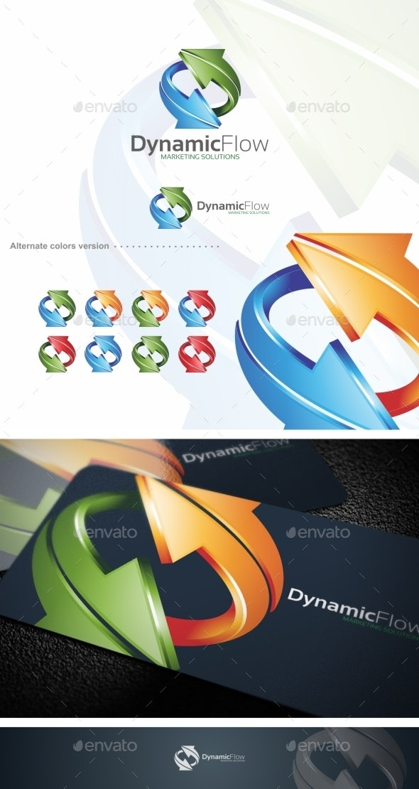 Dynamic Flow / Arrow - Logo Template - Symbols Logo Templates
