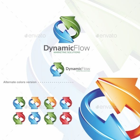 Dynamic Flow / Arrow - Logo Template