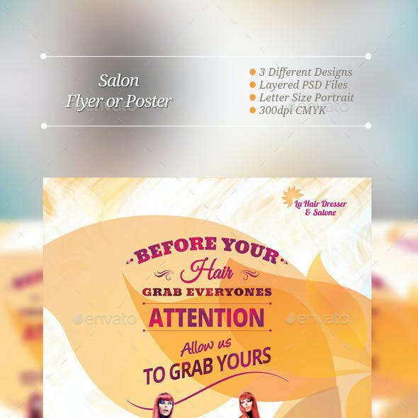 Salon Flyer or Poster