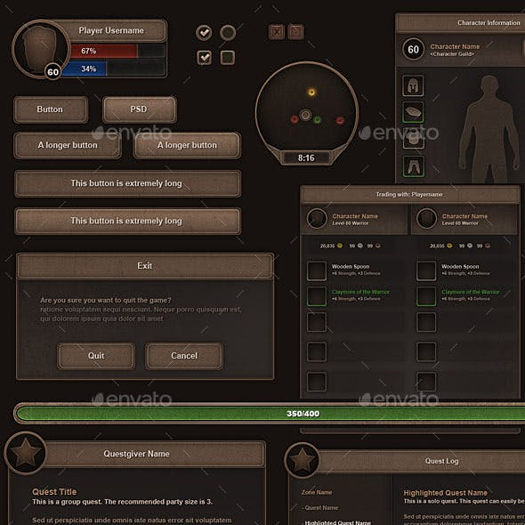 RPG User Interface Set