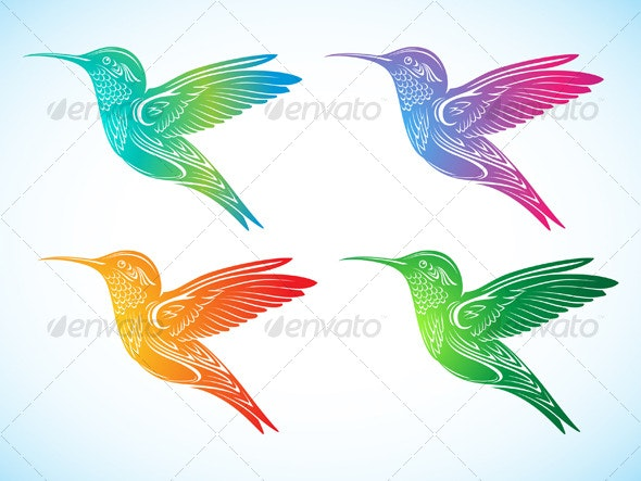 Colorful Hummingbird 2 - Animals Characters