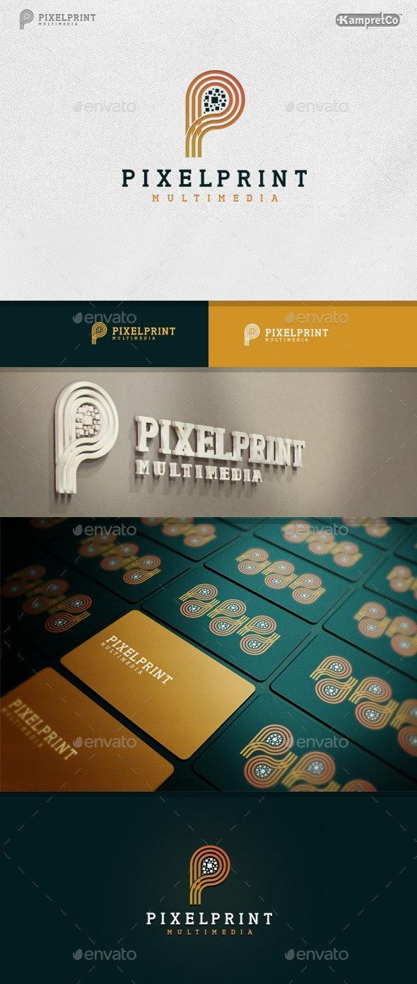 Pixel Print logo - Letters Logo Templates