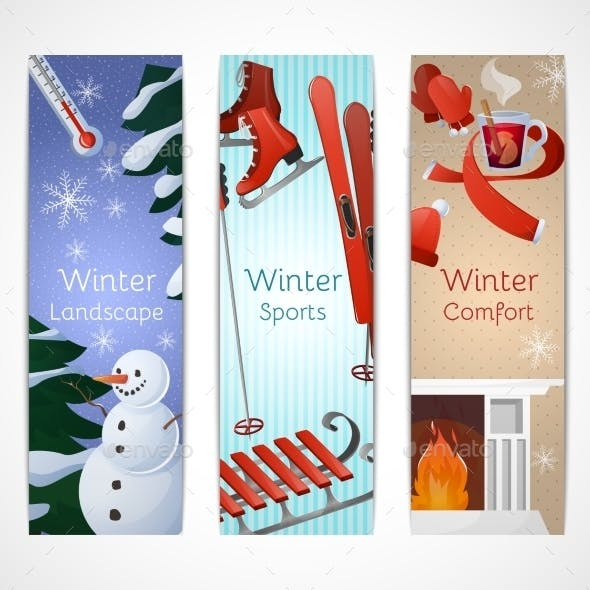 Winter Banners Set