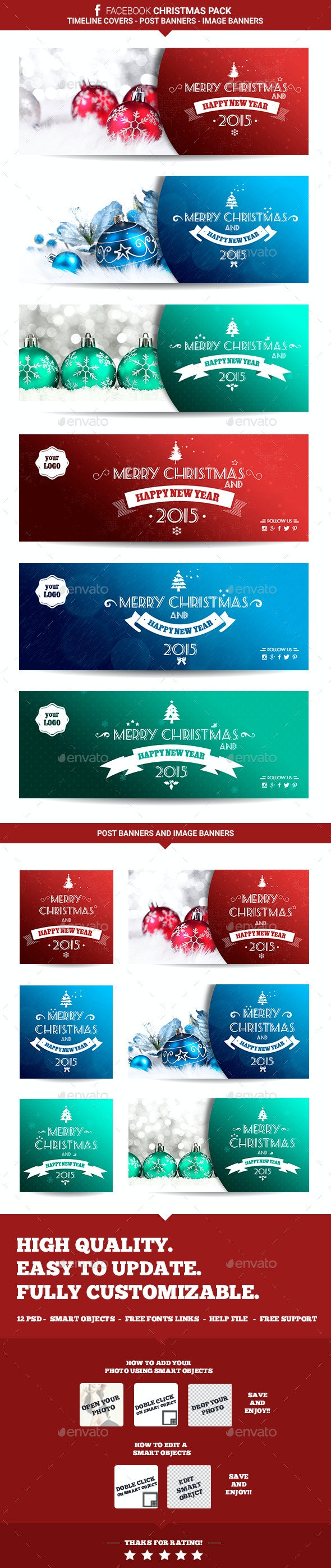 Facebook Christmas Pack - Facebook Timeline Covers Social Media
