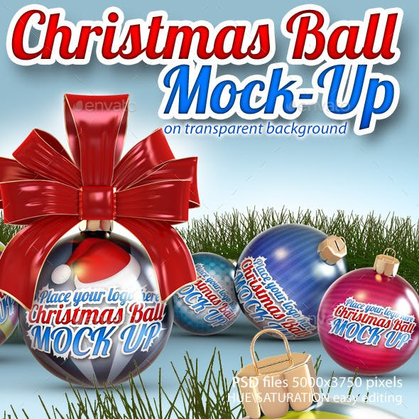 Christmas Balls Mock-Up