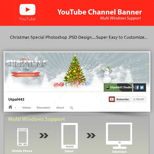 Christmas Youtube Channel Banner