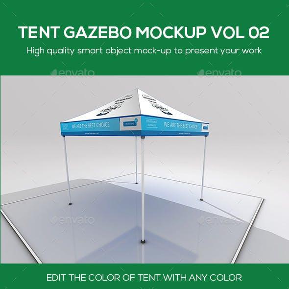 Tent Gazebo Mockup Vol 02