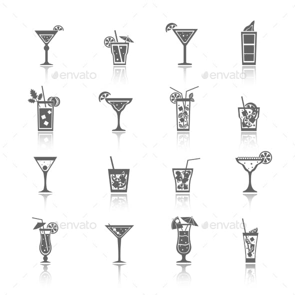 Alcohol Cocktails Icons